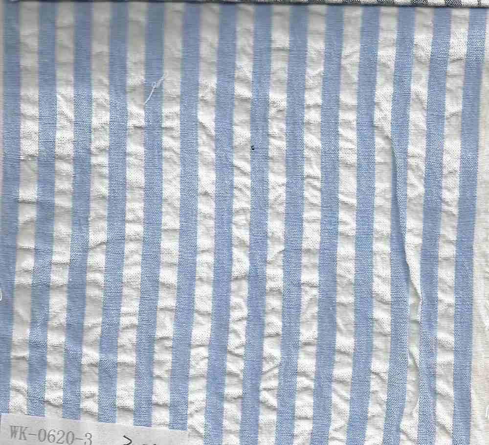 SEERS-STP-1/4 / SKY/WHITE / Cotton Spandex Seer Succer 98/2