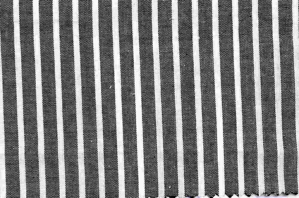 LWN-STP-5459 / BLACK / 100% COTTON STRIPE LAWN
