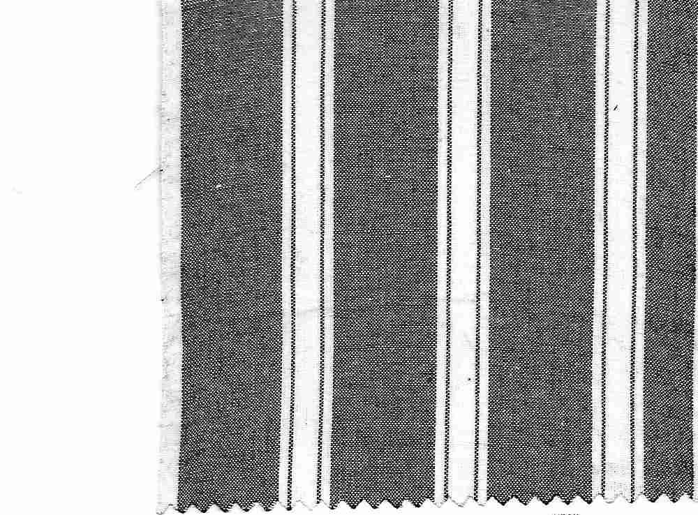 CHAM-STP-408 / BLACK/WHITE / 100% COTTON STRIPE CHAMBRAY