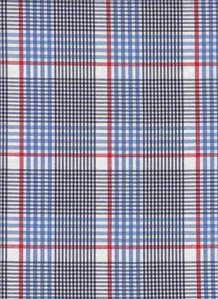 POPS-PLD-712-5 / BLUE / STCH CTN POP Y/D PLAID