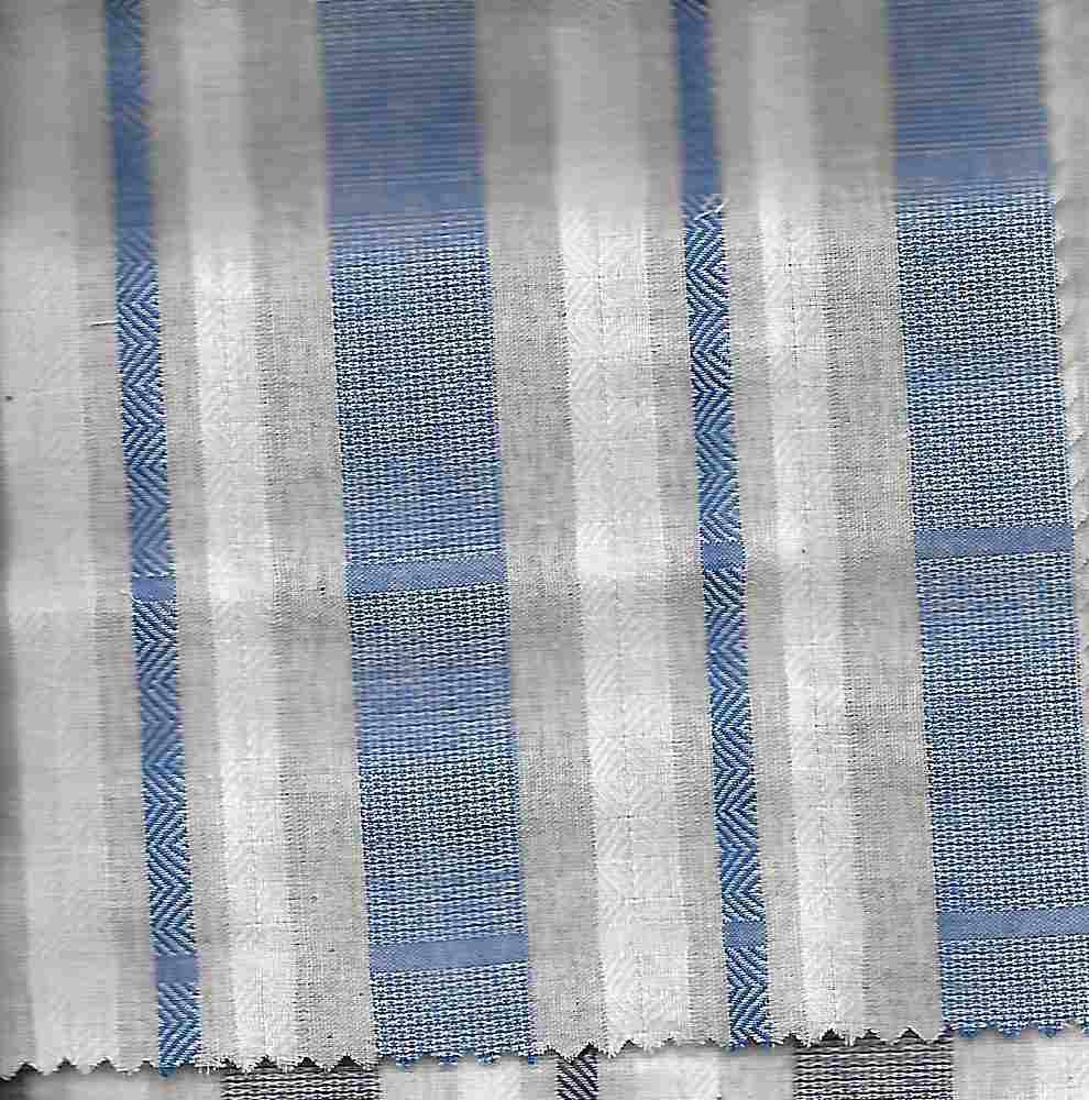 C-LIN-STP-5408 / BLUE / 100%COT,LINEN LOOK JACQUARD STRIPE