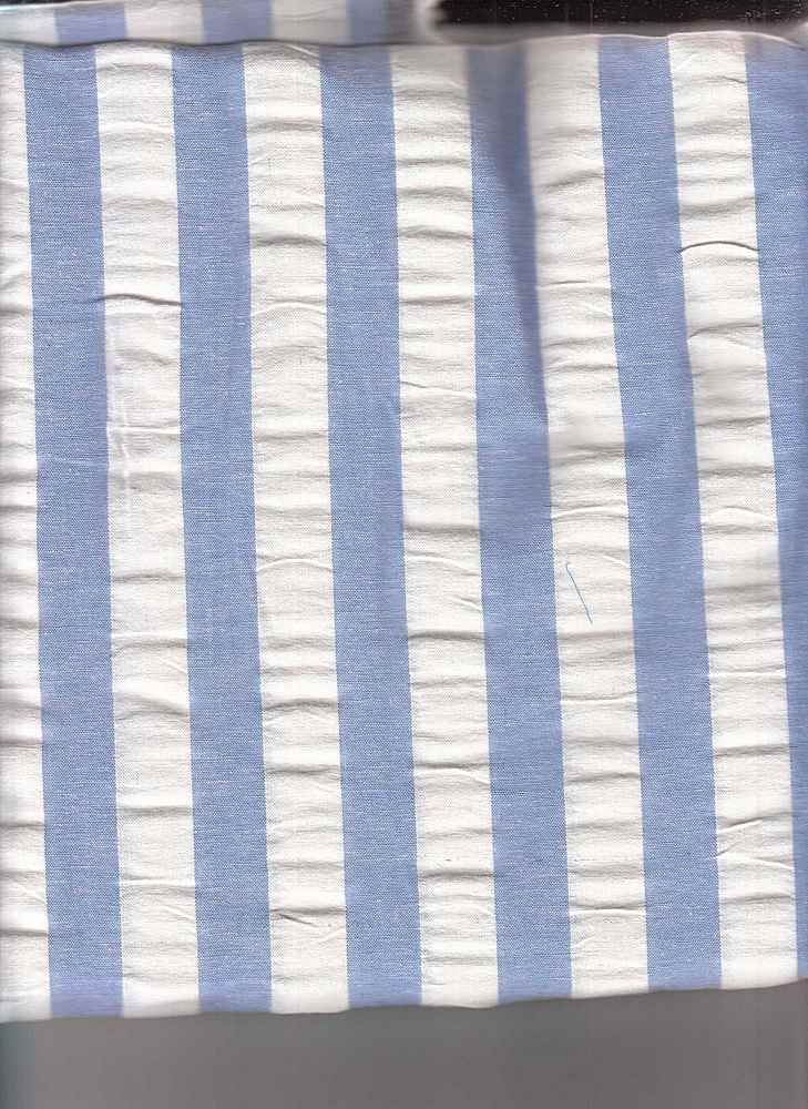 SEERS-STP-3/4 / BLUE/WHITE / COTTON SPANDEX SEER SUCCER STRIPE C/S 98/2