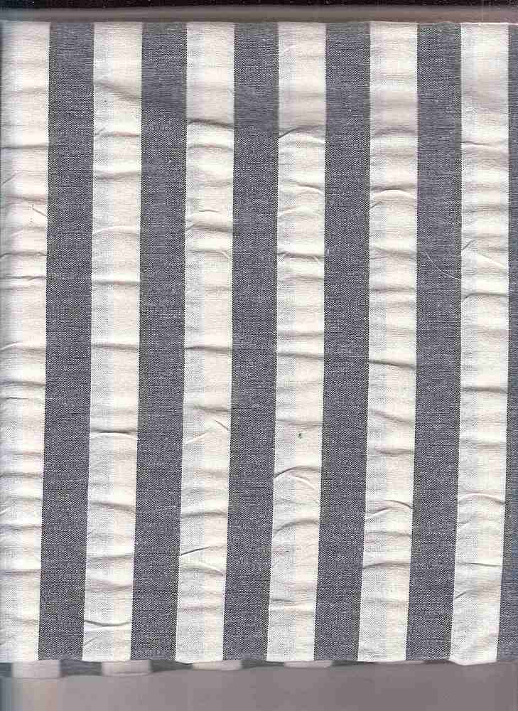 SEERS-STP-3/4 / BLACK/WHITE / COTTON SPANDEX SEER SUCCER STRIPE C/S 98/2