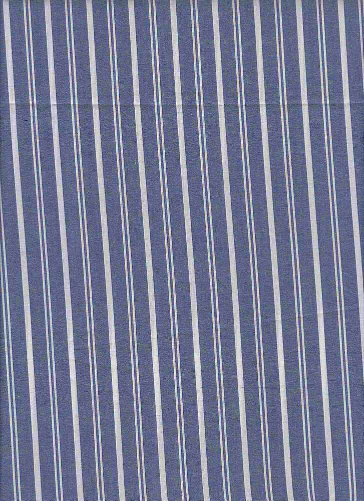 TEN-STP-C-6450 / BLUE / COTTON TENCEL STRIPE 52/48
