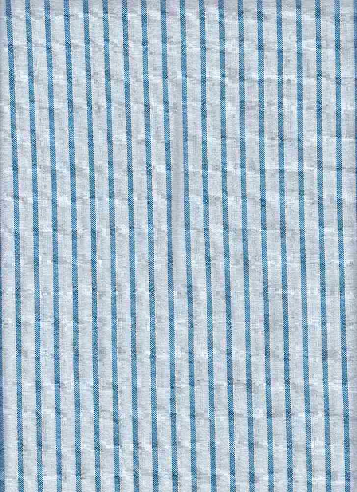 GUZ-STP-5516 / BLUE/WHITE / COTTON RAYON POLY  60/25/15 GAUZE STRIPE