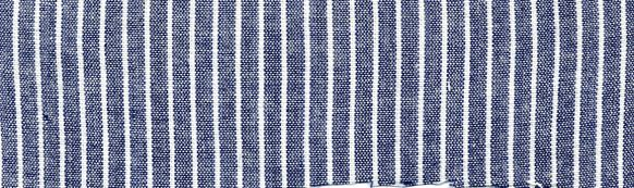 CHAM-S-STP-1/4  / INDIGO/WHITE                    / COTTON SPANDEX STRIPE CHAMBRAY C/S 97/3