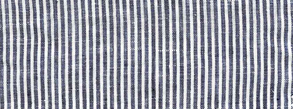 LIN-3-STP-1/8 / NAVY/WHITE / 100%LINEN Y/D STRIPE