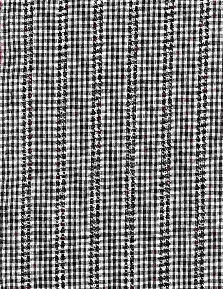 <h2>POP-DB-CHK-2805</h2> / BLACK/WHITE                     / 100% COT.POPLIN DOBBY Y/D CHECK