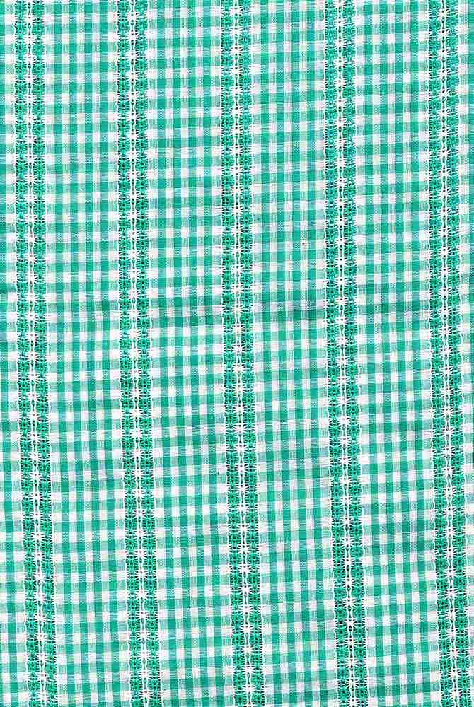 POP-DB-CHK-2805 / GREEN/WHITE / 100% COT.POPLIN DOBBY Y/D CHECK