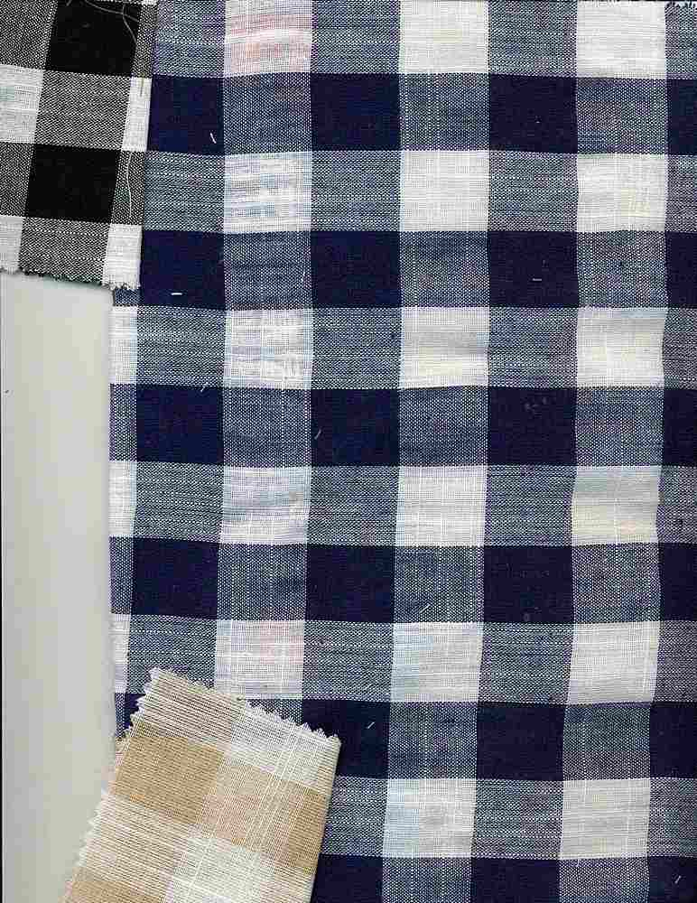CHAM-P-PLD-963 / NAVY/WHITE / LAWN PLAID POLY COTTON P/C 80/20