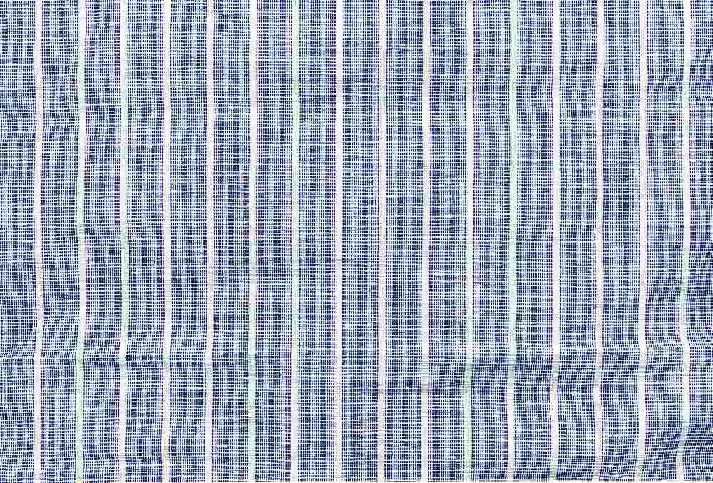 LIN-STP-921 / BLUE/WHITE / LINEN COTTON Y/D STRIPE 55/45