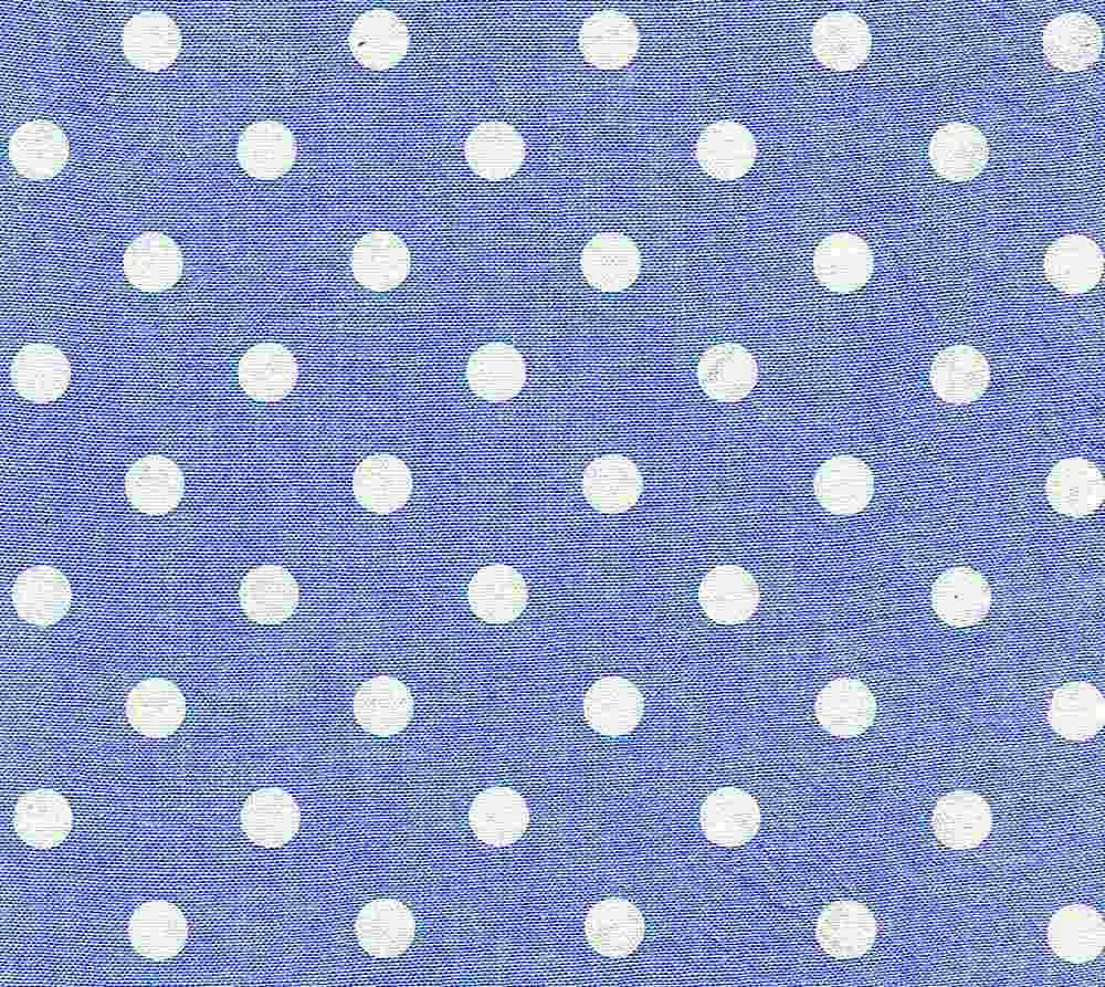 CHAM-DOT-ASP / BLUE/WHITE / 100 % COTTON CHAMBRAY DOT