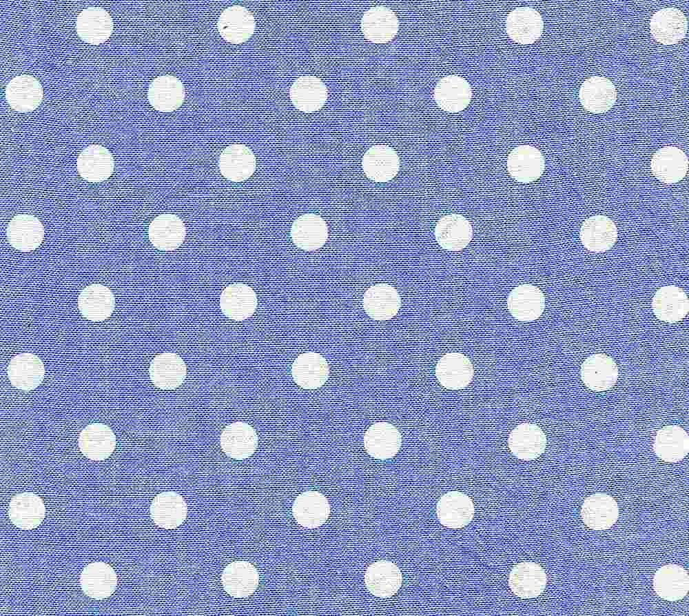 CHAM-DOT-ASP / BLUE/WHITE / 100 % COTTON CHAMBRAY DOT