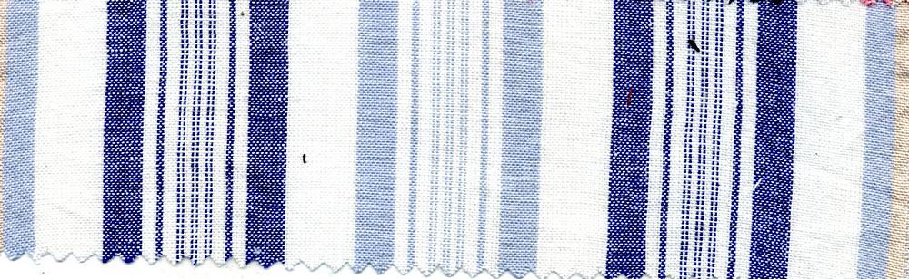CHAM-STP-10515 / BLUE/ROYAL / 100% COTTON STRIPE CHAMBRAY