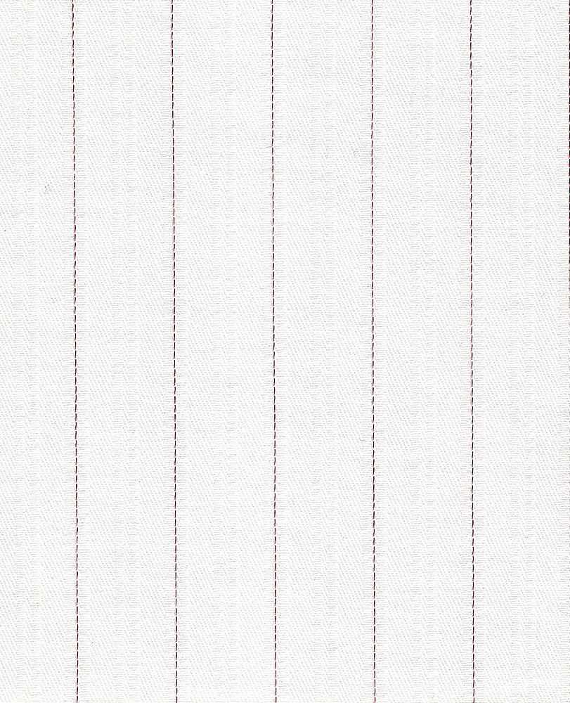 TWLS-STP-4201 / WHT/RED / STRETCH TWILL DOBBY STRIPE C/S 97/3