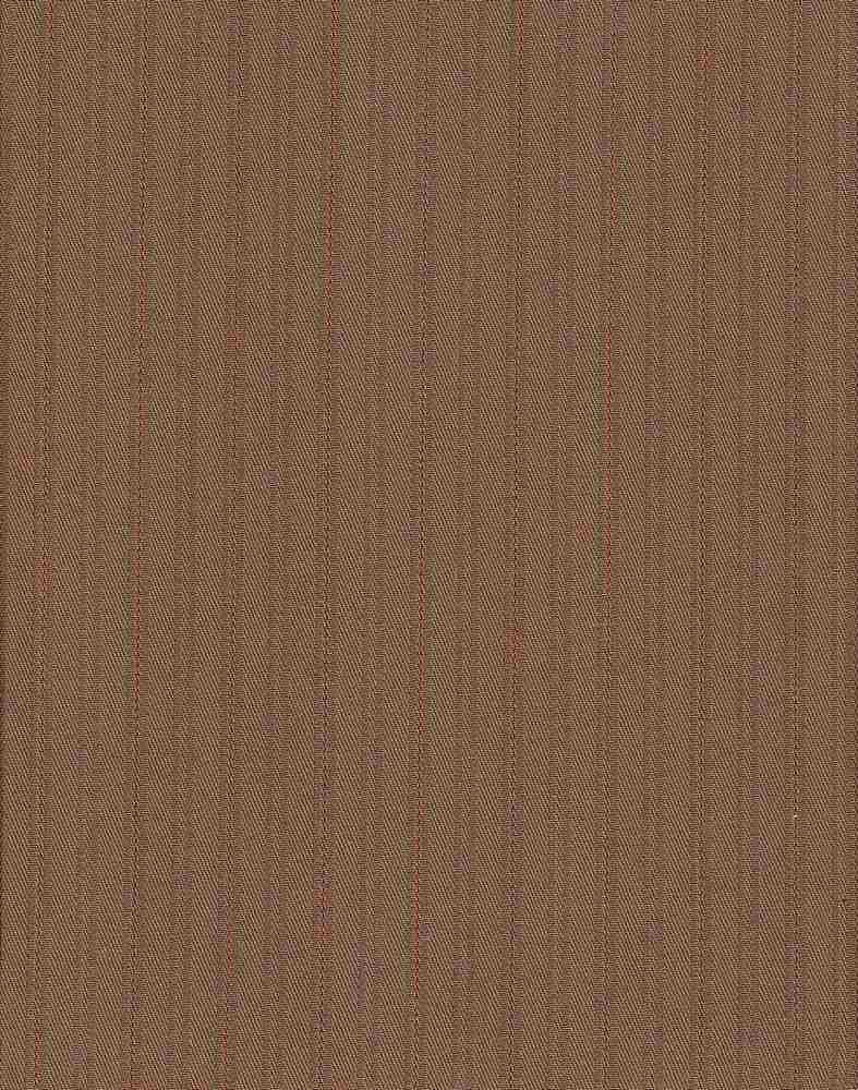 TWLS-STP-4201 / CAMEL/RED / STRETCH TWILL DOBBY STRIPE C/S 97/3