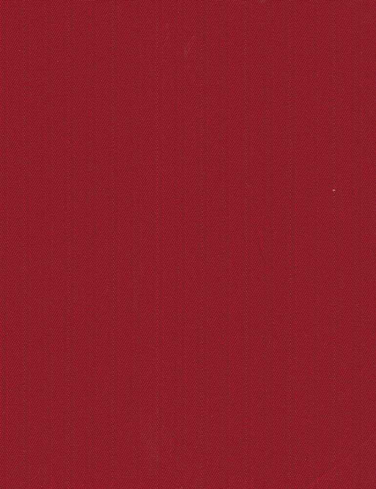 TWLS-STP-4201 / RUBY/RED / STRETCH TWILL DOBBY STRIPE C/S 97/3
