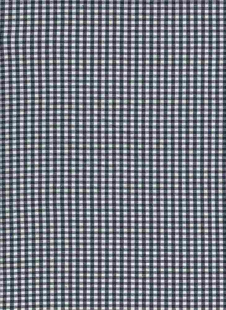 POPS-CHK-1229 / NAVY/WHITE / STRETCH POPLIN YARNDYE CHECKER C/S 97/3