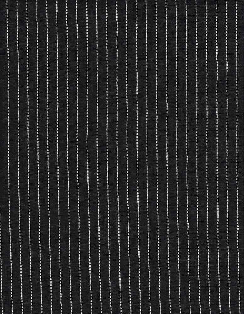 LIN-R-STP-4432 / BLACK/WHITE / LINEN/RAYON YARNDYED STRIPE