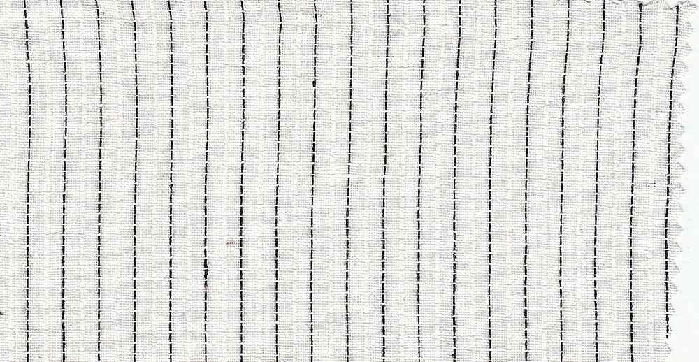 LIN-R-STP-4432 / WHITE/BLACK / LINEN/RAYON YARNDYED STRIPE