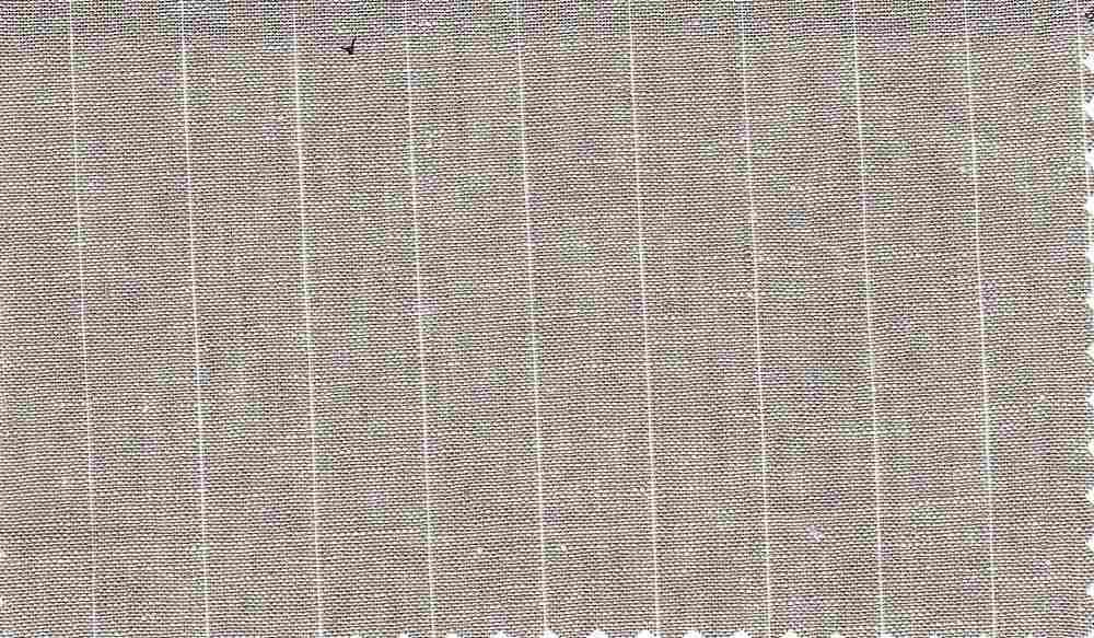 LIN-C-STP-103 / KHAKI / 55%LINEN/45%COTTON STRIPE