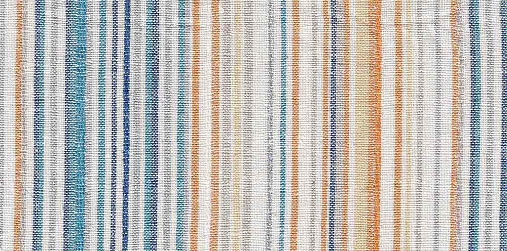 LIN-R-STP-4435 / BLUE / 55%LINEN/45%RAYON STRIPE