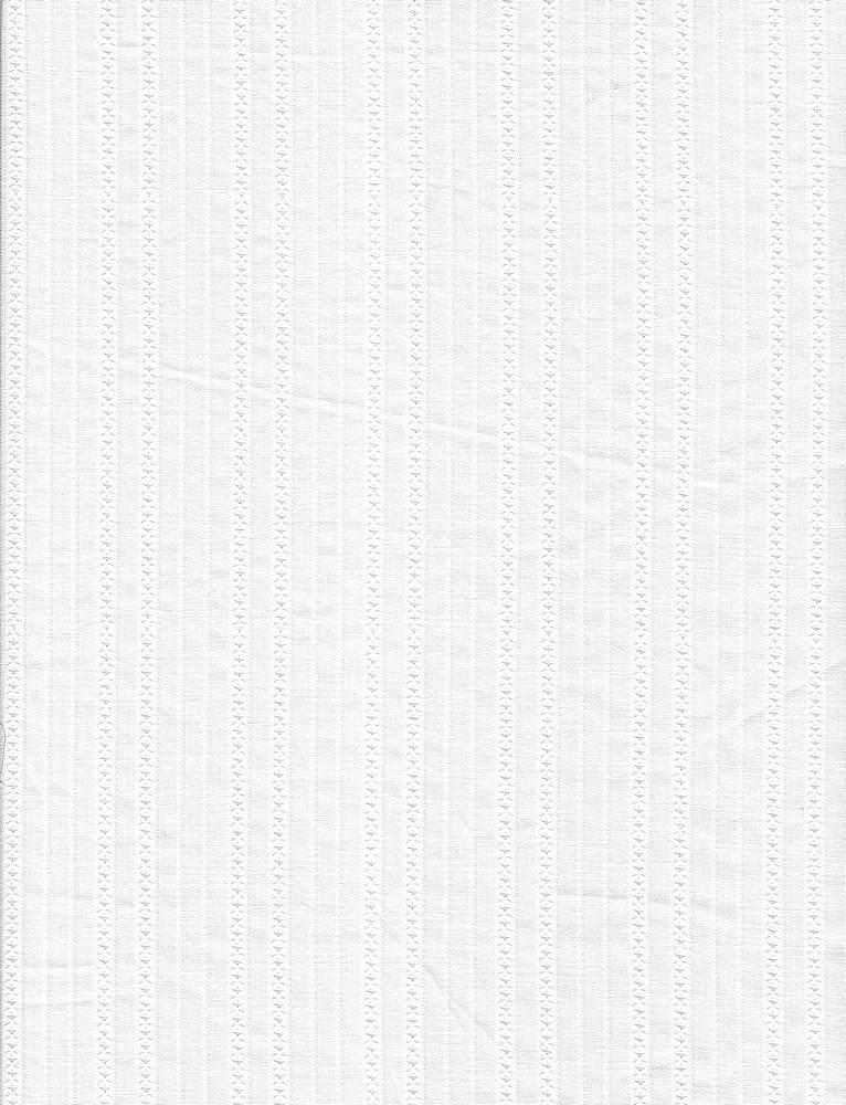 VL-469 / WHITE / 100%COT.DOBBY STRIPE