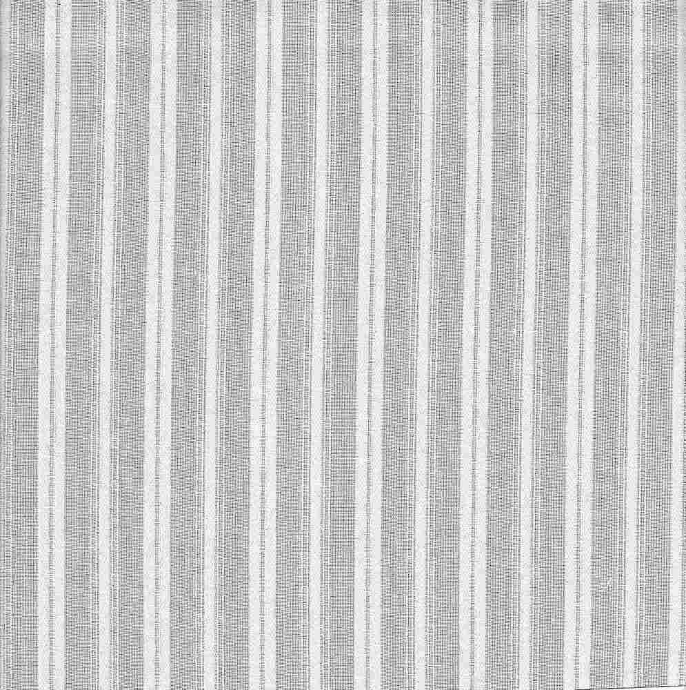 VL-0584 / WHITE / 100%COT. DOBBY STRIPE