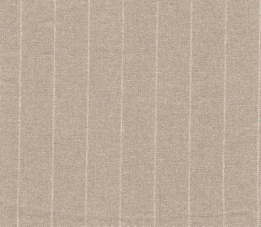 LIN-C-STP-4434 / KHAKI / STRIPE LINEN