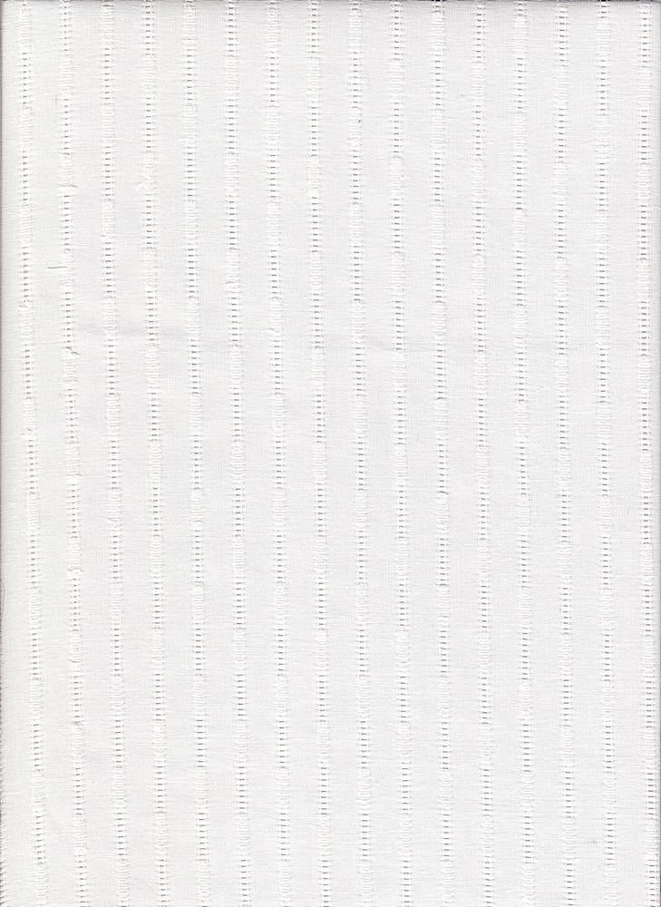 LWN-DB-9001 / WHITE / 100%COT.DOBBIE SKIP LENO