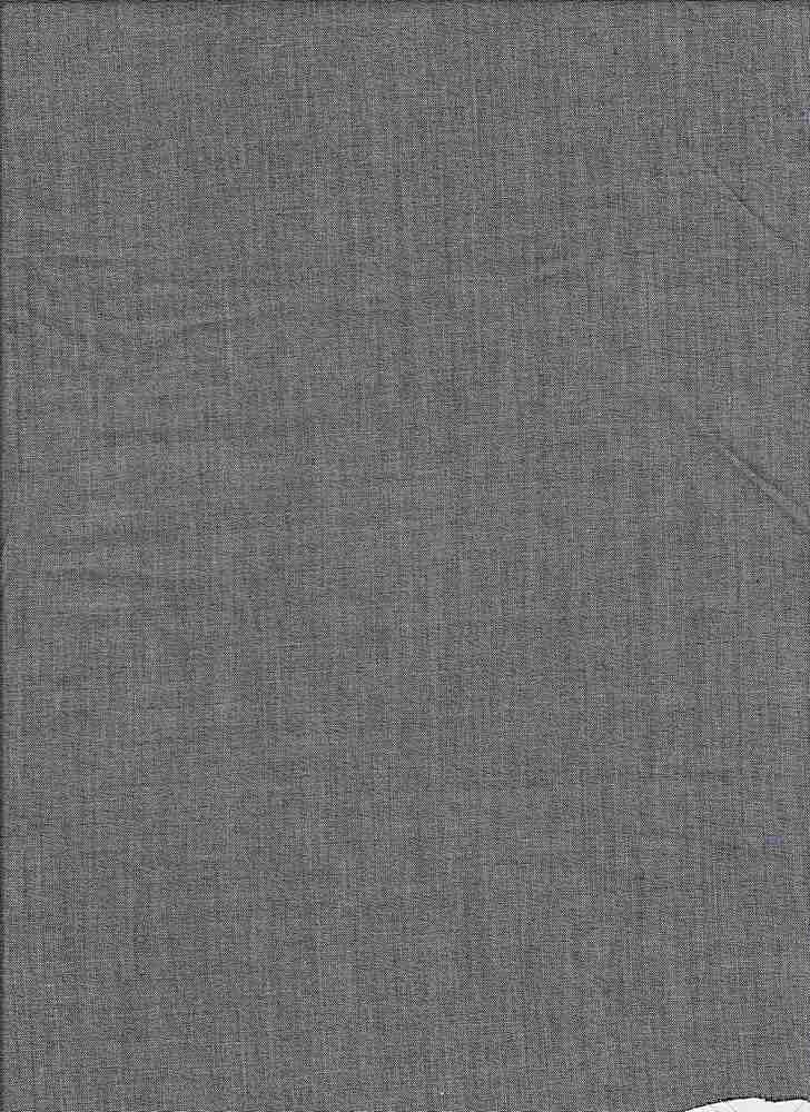 CHAM-LAWN / BLACK / 100% Cotton Lawn Chambray