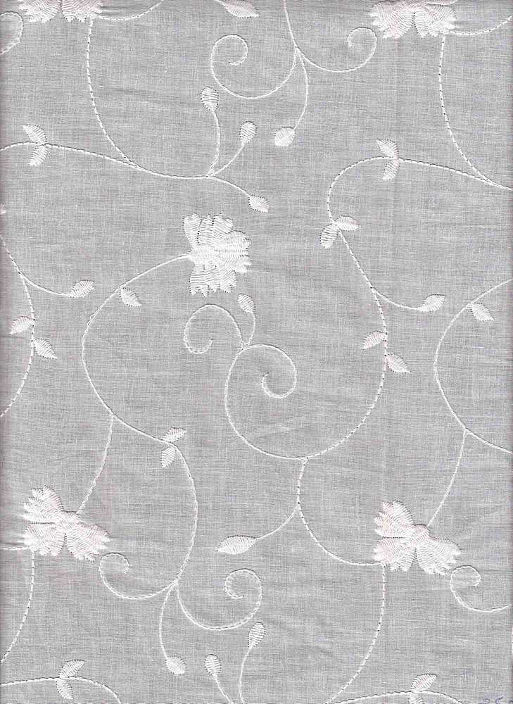 EMB-755-A / WHITE / CTN EMBROIDERY