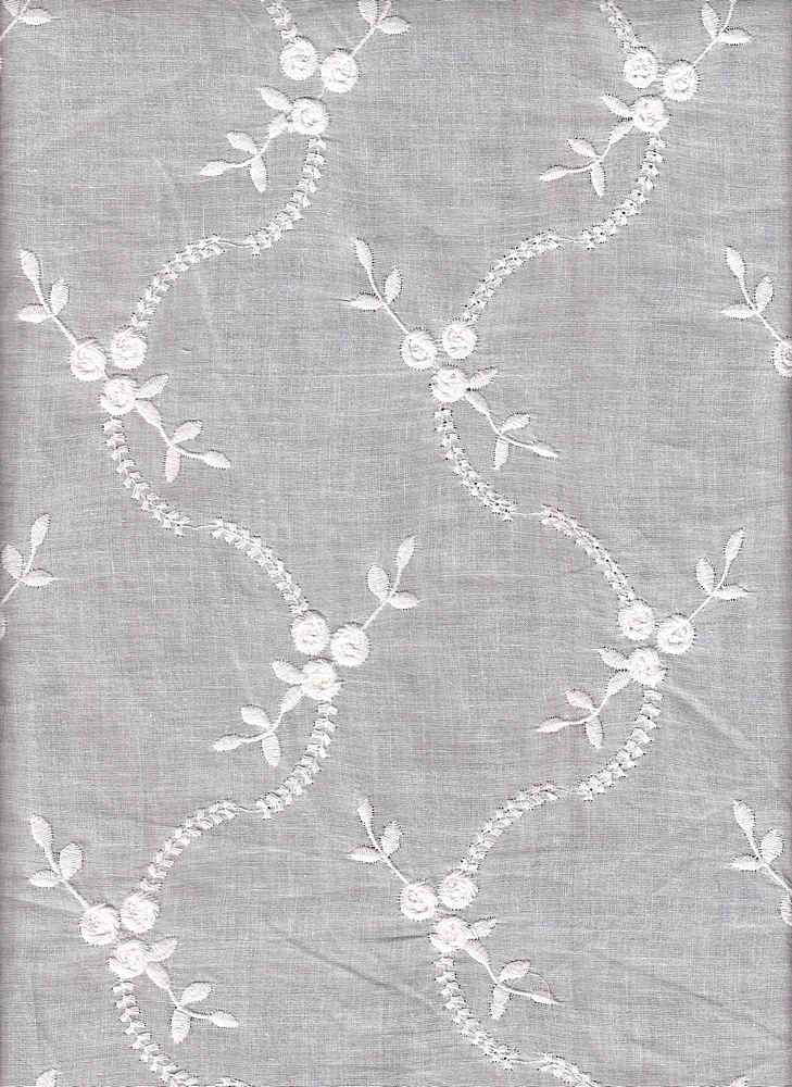 EMB-755-D / WHITE / CTN EMBROIDERY