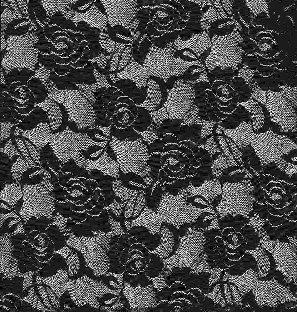 LACE-ROSE / BLACK / NYLON/SPANDEX 90/10