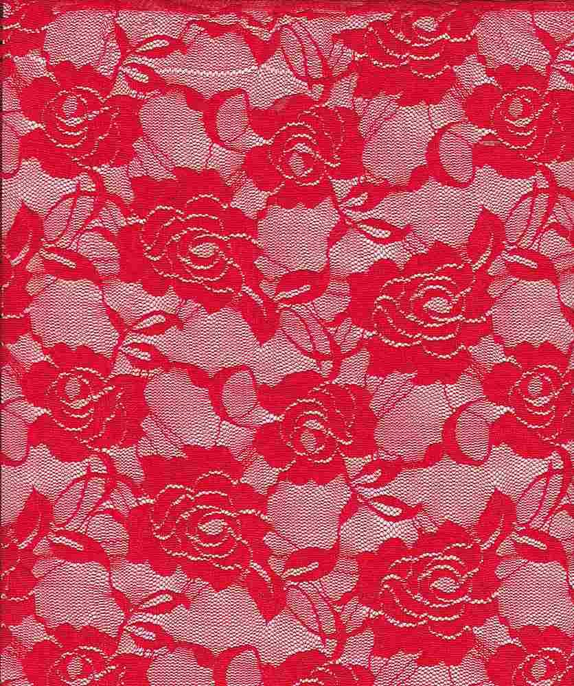 LACE-ROSE / RED / NYLON/SPANDEX 90/10