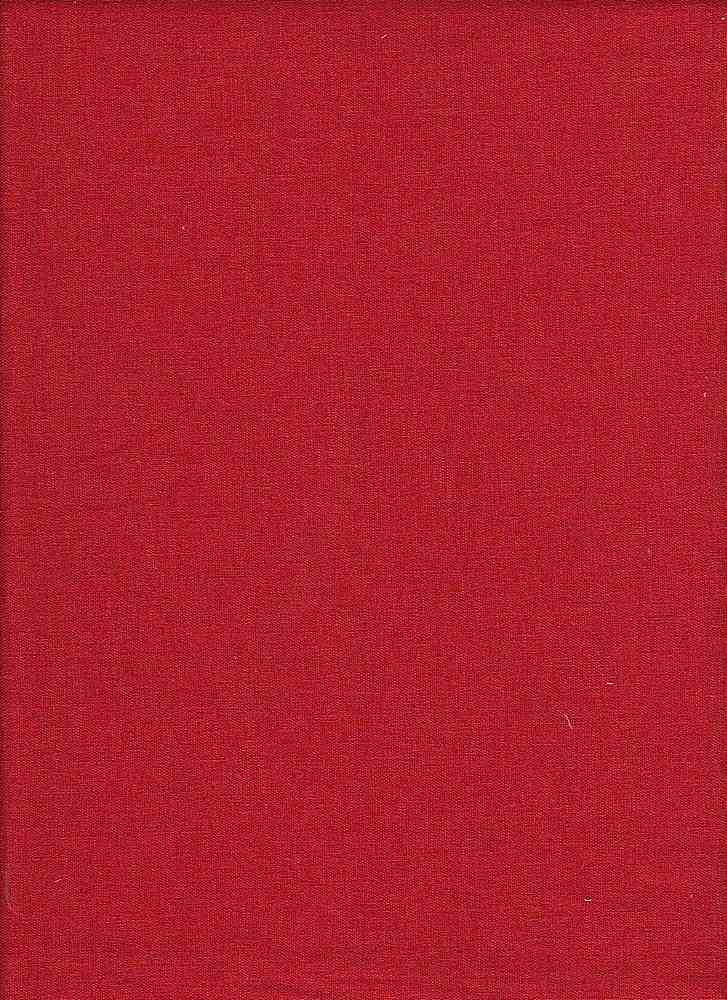 LIN-S / RED / STRETCH LINEN/RAYON/SPX L/R/S 50/47/3