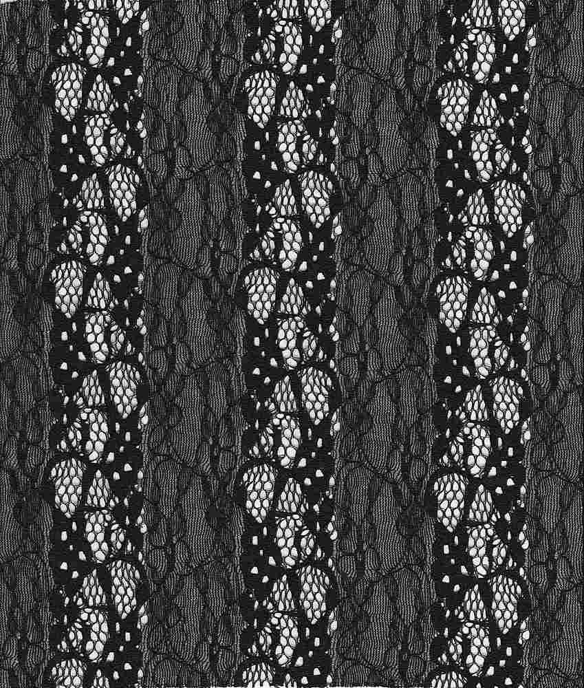 LACE-FA-015 / BLACK / FANCY ST LACE,NYLN/SPDX