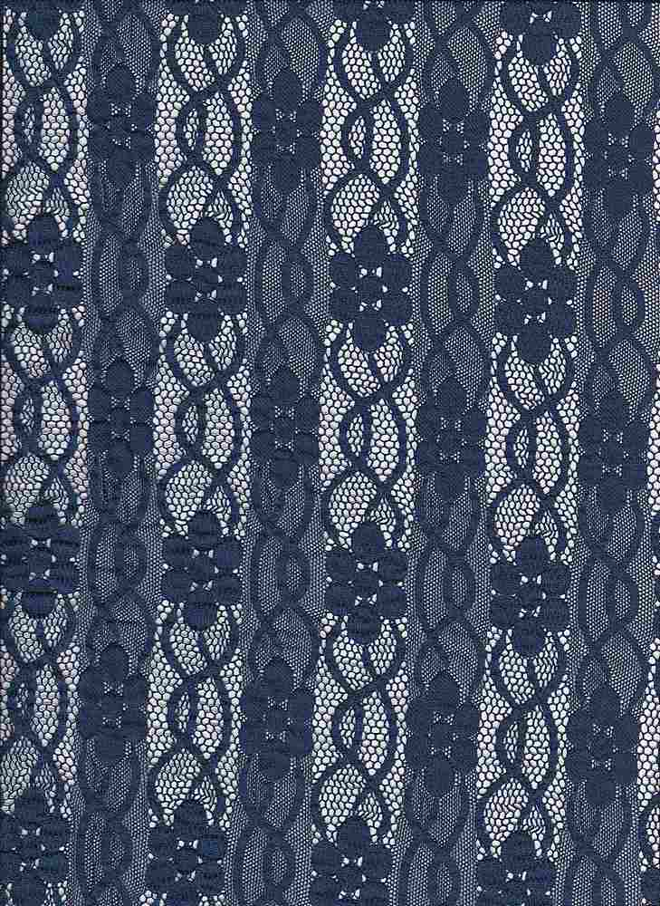 LACE-FA-032 / NAVY / FANCY ST LACE,NYLN/SPDX