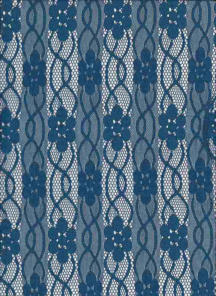 LACE-FA-032 / TEAL / FANCY ST LACE,NYLN/SPDX