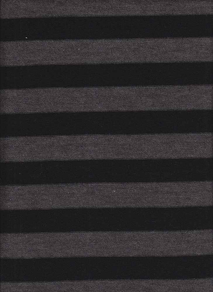 "JER-HAC-STP-1"" / CHARCOAL/BLACK / P/R/SP HATCHI STRIPE 87/10/3"