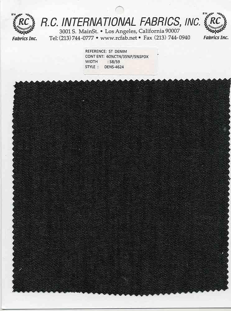 DENS-4624 / BLACK / STRECH DENIM C/P/S  60/35/5