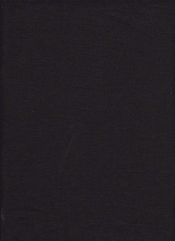 LIN-S / BLACK-C / STRETCH LINEN/RAYON/SPX 50/47/3