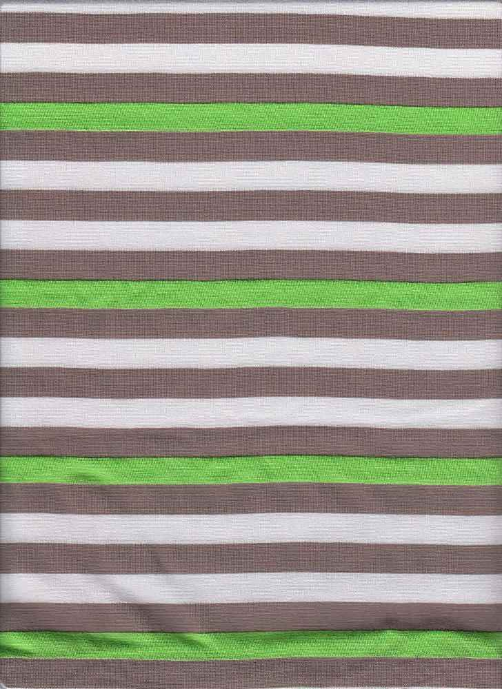 "JER-STP-369 / LIME/TAUP / P/R 50/50 1/2""STRIPE JERSEY"