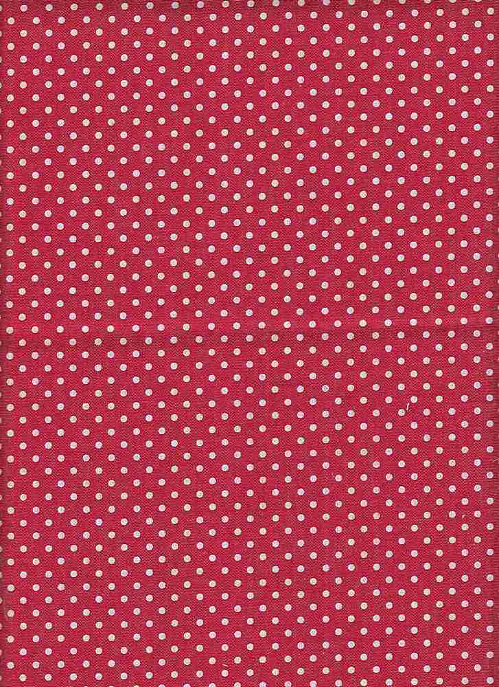 CHAM-7-DOT-PIN / RED/WHITE DT / 100% COTTON CHAMBRAY-DEN-7 WHITE PIN DOT