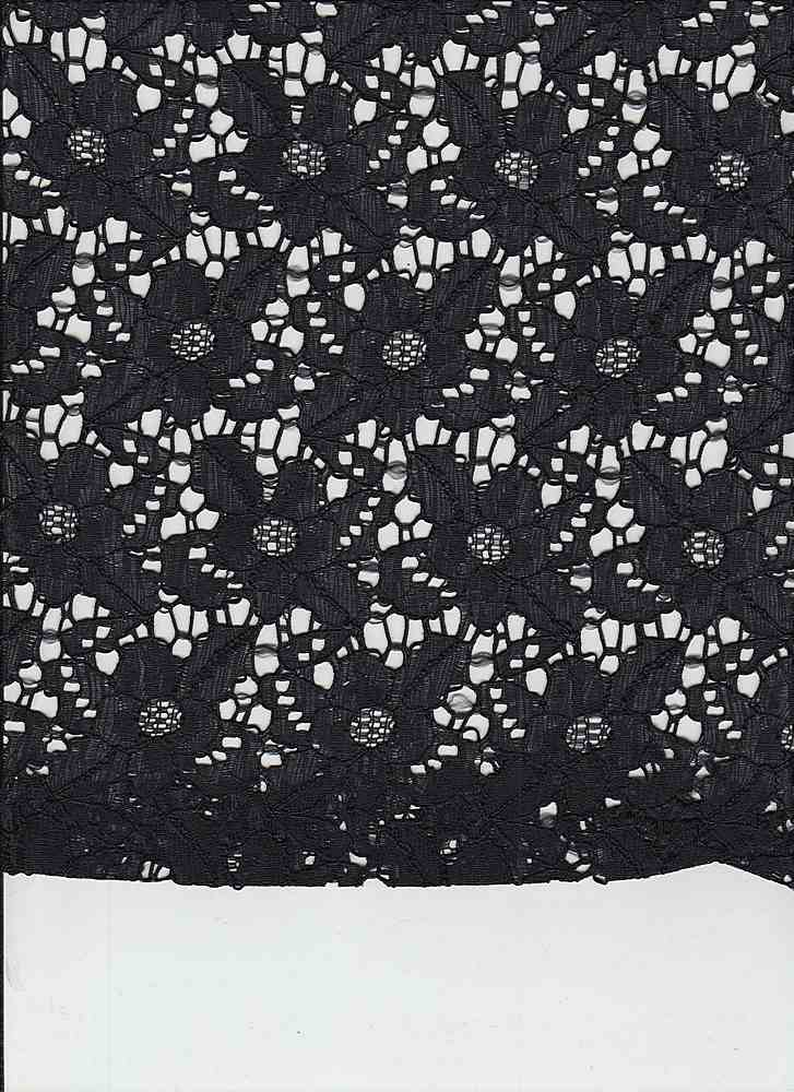 LACE-104 / BLACK / 90/10 NYLON/SPANDEX LACE