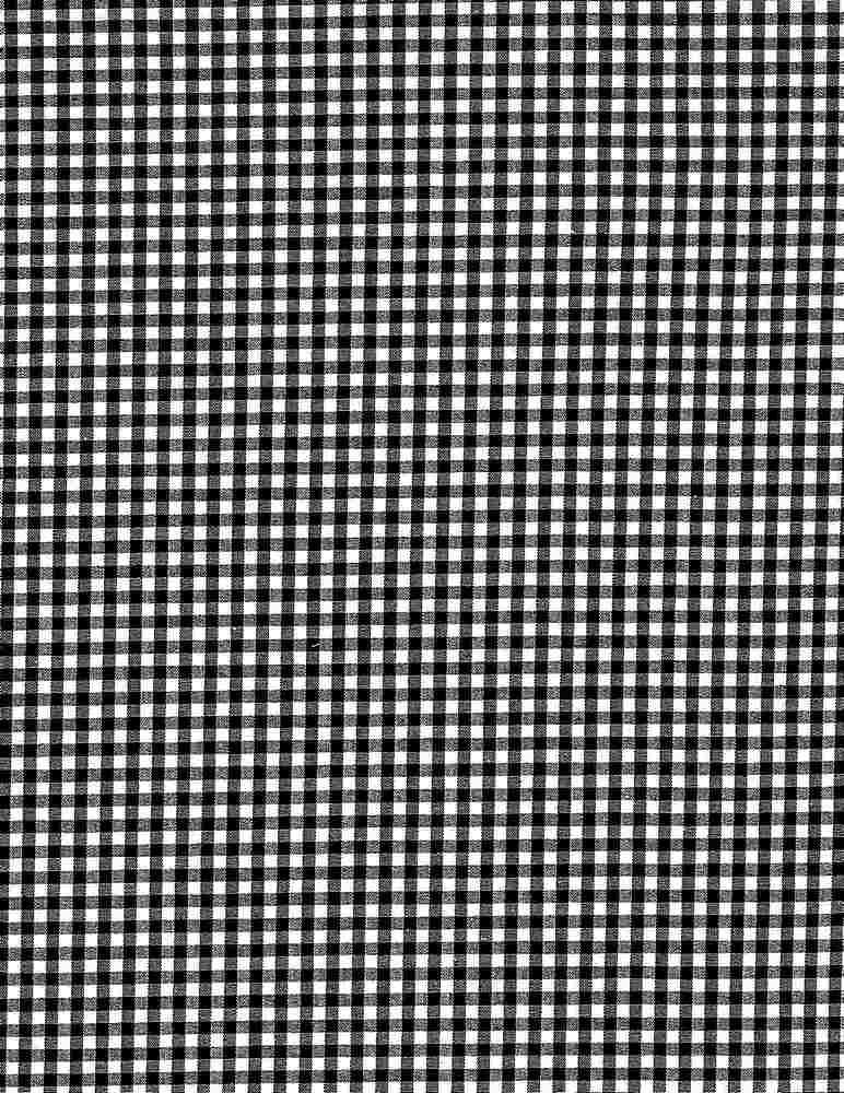 POPS-CHK-1229 / BLACK/WHITE / STRETCH POPLIN YARNDYE CHECKER C/S 97/3
