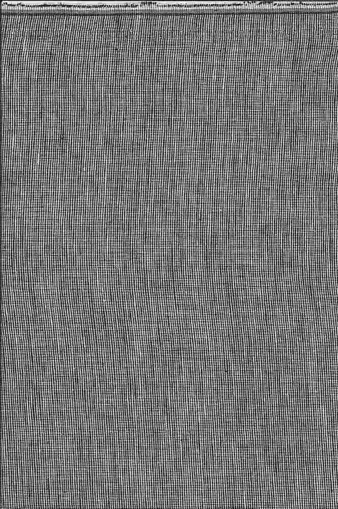 LIN-C-STP-615 / BLACK/WHITE / LINEN COTTON YARN DYE STRIPE 55/45