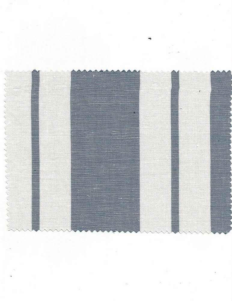 LIN-STP-648 / SKY/WHITE / COTTON/LINEN STRIPE 60/40