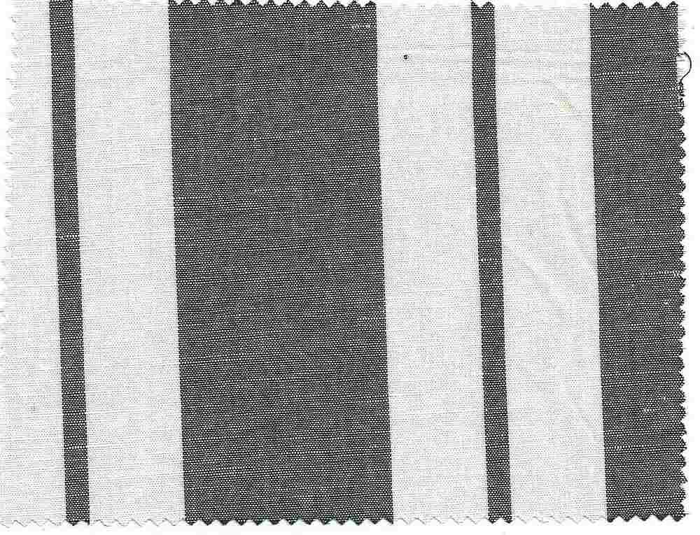 LIN-STP-648 / NAVY/WHITE / COTTON/LINEN STRIPE 60/40