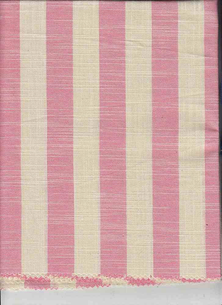 CHAM-STP-724 / MELON/IVORY / CHAM STRIPE 100% COTTON Y/D